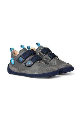 detské topánky Affenzahn Buddy Forever Leather Midcut Bear - Grey/Blue