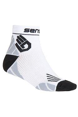 socks Sensor Race Merino - White
