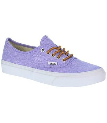 d62317744d Vans Authentic Slim Shoes - Washed Canvas Violet Tulip True White ...