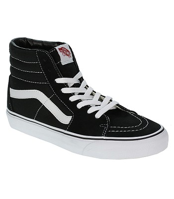 chaussures Vans Sk8-Hi - Black/Black/White