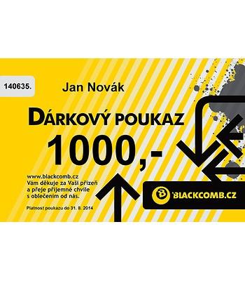 poukázka Blackcomb 1000 - Yellow
