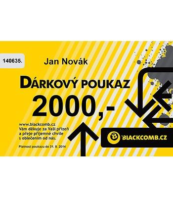 poukázka Blackcomb 2000 - Yellow