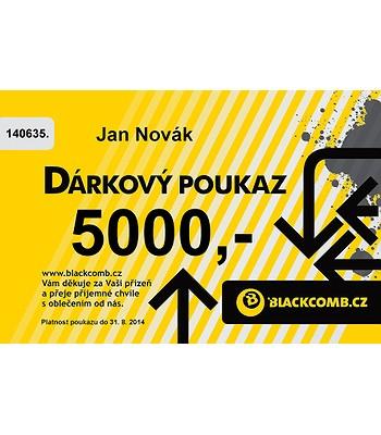 poukázka Blackcomb 5000 - Yellow