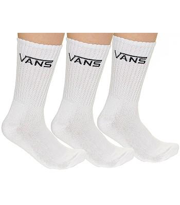 ponožky Vans Classic Crew 3 Pack - White