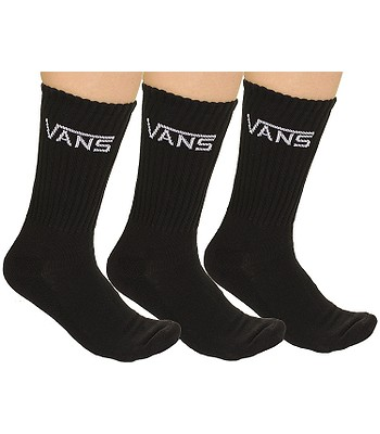 ponožky Vans Classic Crew 3 Pack - Black