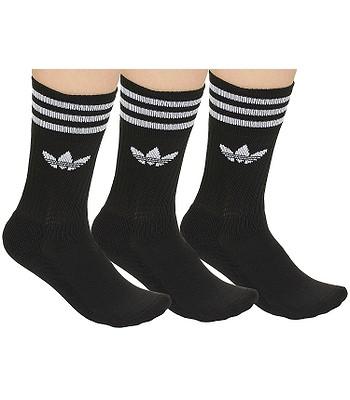 adidas Originals Solid Crew Sock 3 Pack Socks - Black White -  blackcomb-shop.eu a5616ac062f