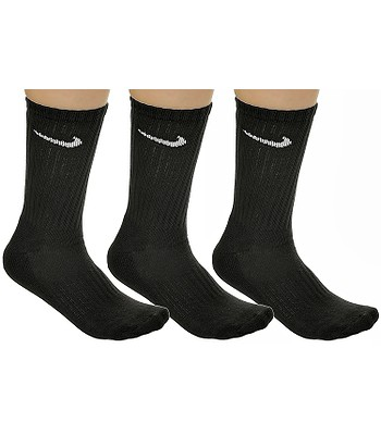 ponožky Nike Value Cotton Crew 3 Pack - 001/Black/White