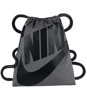 edc0c3cd36da3 Beutel Nike Heritage Gymsack - 009 Dark Gray Black Black - blackcomb ...