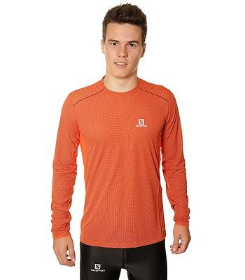 tričko Salomon Trail Runner LS - Vivid Orange Big Blue X  7e8a4005802