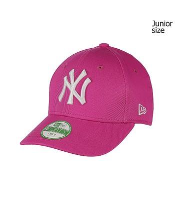 Baseball Cap New Era 9FO League Basic MLB New York Yankees Kid's - Hot Pink/Optic White