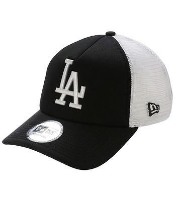 Kappe New Era 9FO Clean Trucker MLB Los Angeles Dodgers - Black/White
