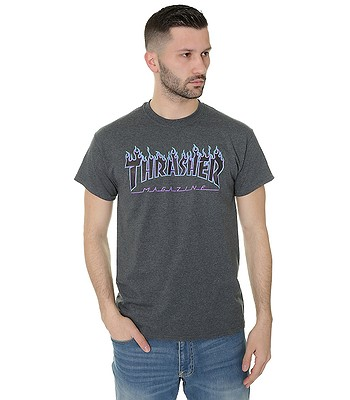 T-shirt Thrasher Flame Logo - Dark Heather
