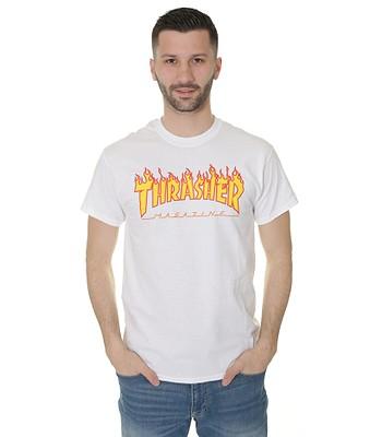 T-shirt Thrasher Flame Logo - White