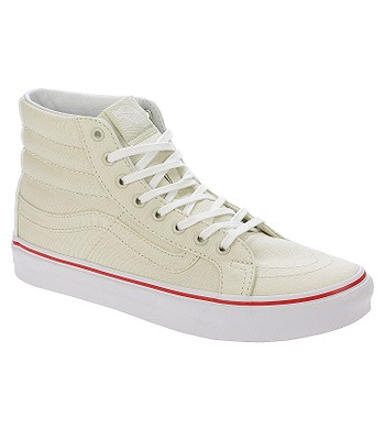 5369ad4f43 shoes Vans Sk8-Hi Slim - Leather Canvas Bone True White - blackcomb-shop.eu