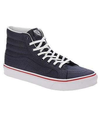 165a11e0d37 shoes Vans Sk8-Hi Slim - Leather Canvas Parisian Night True White ...