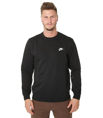 978150eab4d9 mikina Nike Sportswear Crew FT Club - 010 Black White