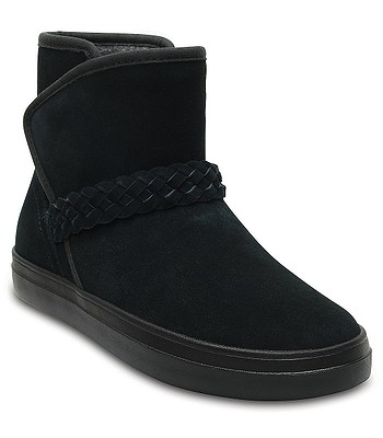 boty Crocs Lodgepoint Suede Bootie - Black