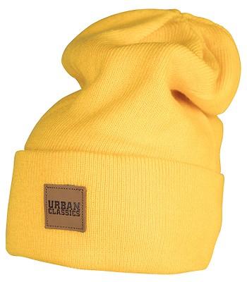 čepice Urban Classics Leatherpatch Long TB626 - Chrome Yellow ... feb81b4d5b