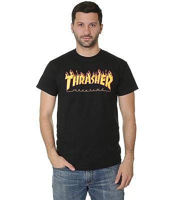 shirt Thrasher Flame Logo - Black