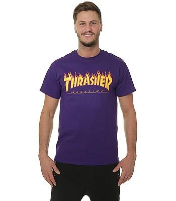 koszulka Thrasher Flame Logo - Purple