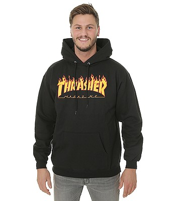 mikina Thrasher Flame Logo - Black