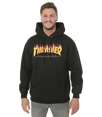 sweatshirt Thrasher Flame Logo - Black