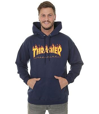 bluza Thrasher Flame Logo - Navy Blue