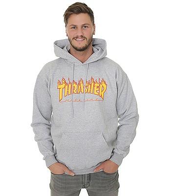 sweatshirt Thrasher Flame Logo - Gray