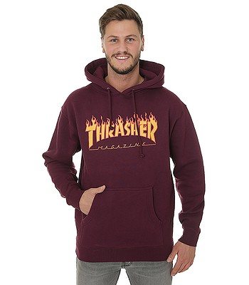sweatshirt Thrasher Flame Logo - Maroon