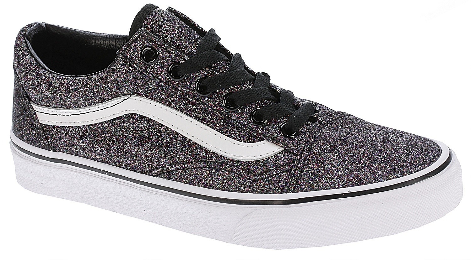 Skool Vans Black Chaussures Glitterrainbow Old 2DHWEI9