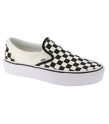 chaussures Vans Classic Slip-On Platform - Black And White Checker/White