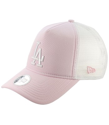Kappe New Era 9FO Oxford Trucker MLB Los Angeles Dodgers - Pink/White