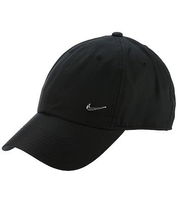 Kappe Nike Sportswear Heritage86 Metal Swoosh - 010/Black/Metallic Silver