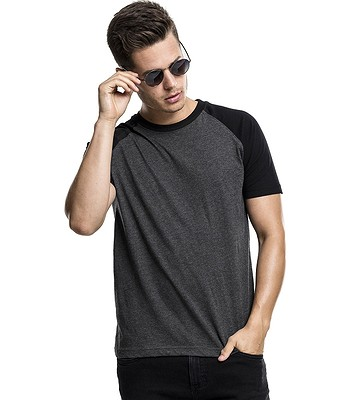 T-Shirt Urban Classics Raglan Contrast/TB639 - Charcoal/Black