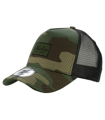 264e8a11 cap New Era 9FO Script Patch Trucker - Woodland Camo - blackcomb-shop.eu
