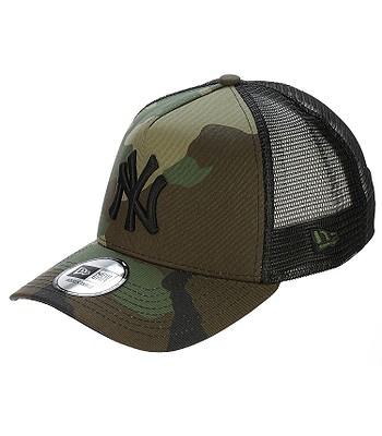 Kappe New Era 9FO Clean Trucker MLB New York Yankees - Woodland Camo/Black