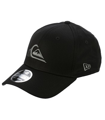 cap Quiksilver Mountain and Wave Black New Era 39Thirty - SZP0/Sleet - men´s