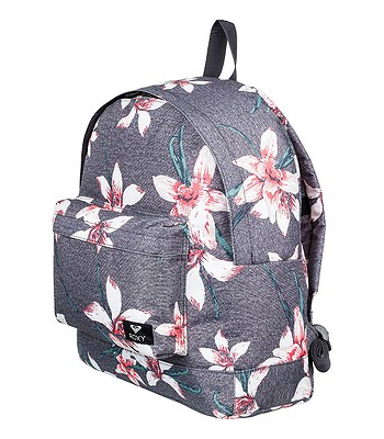 d87fdfea12 backpack Roxy Be Young - KPG6 Charcoal Heather Flower Field - women´s -  blackcomb-shop.eu