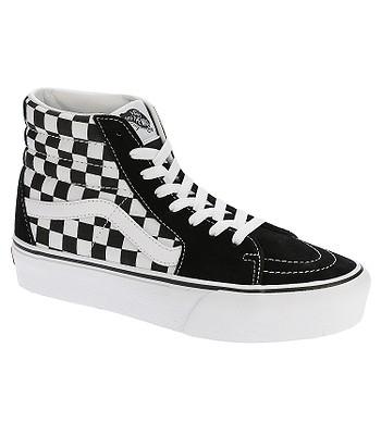 chaussures Vans Sk8-Hi Platform 2 - Checkerboard/True White