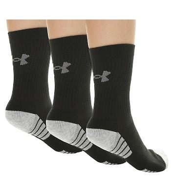 5d188d29d ponožky Under Armour Heatgear Tech Crew 3 Pack - 001/Black/Gray ...