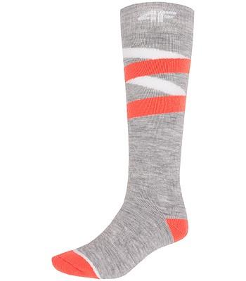 ponožky 4F X4Z18-SODN271 - Cold Light Gray Melange  92c74f9b65