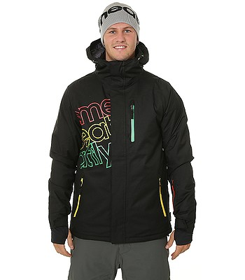 jacket Meatfly Sim - A/Black Rasta - men´s