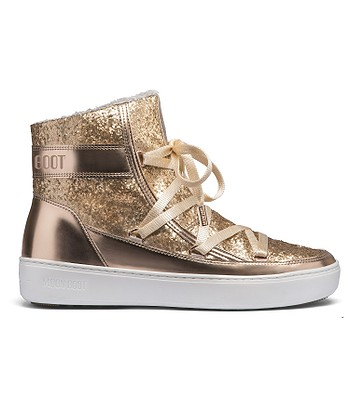 Shoes Tecnica Moon Boot Pulse Z Glitter Gold Copper