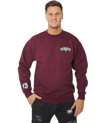 sweatshirt Thrasher Racing Crew - Maroon - men´s