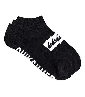 ponožky Quiksilver Ankle 3 Pack - KVJ0/Black