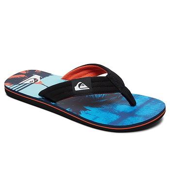 flip flops  Quiksilver Molokai Layback - XKNB/Black/Orange/Blue - men´s