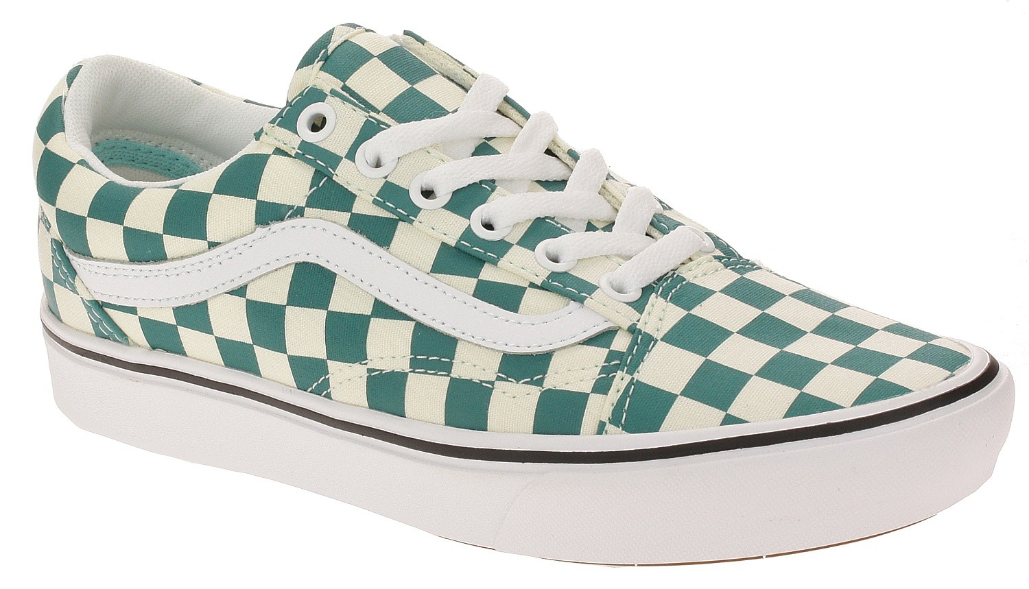 shoes Vans ComfyCush Old Skool - Checker/Quetzal/True White ...