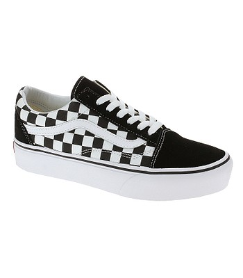 chaussures Vans Old Skool Platform - Checkerboard/Black/True White