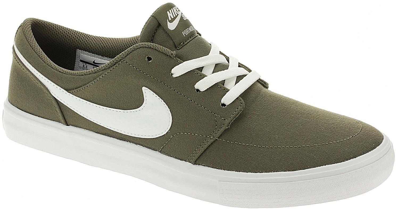 shoes Nike SB Portmore II Solar Canvas - Medium Olive/White/Medium ...
