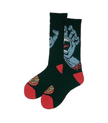 ecb9c97111bd ponožky Santa Cruz Screaming Hand - Black